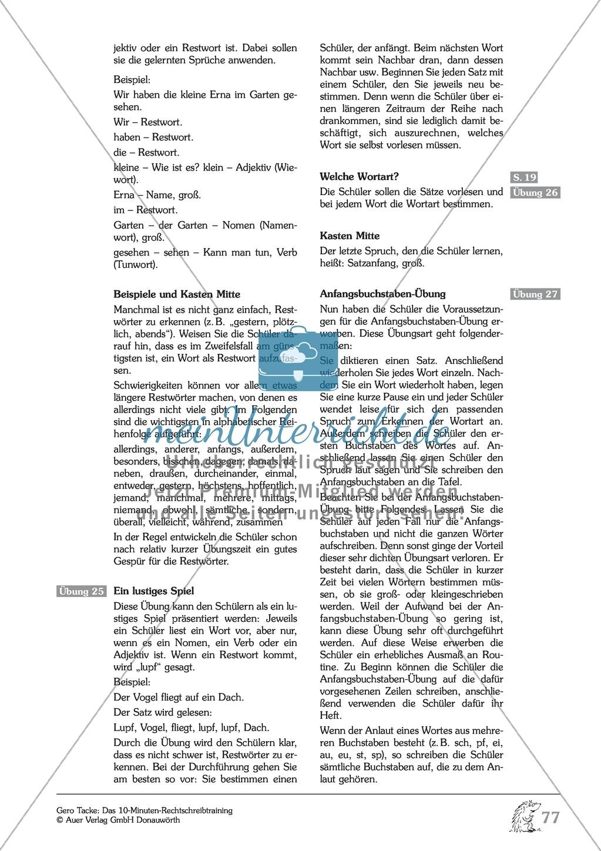 Groß- und Kleinschreibung - Restwörter: Arbeitsblatt + Erläuterung Preview 3