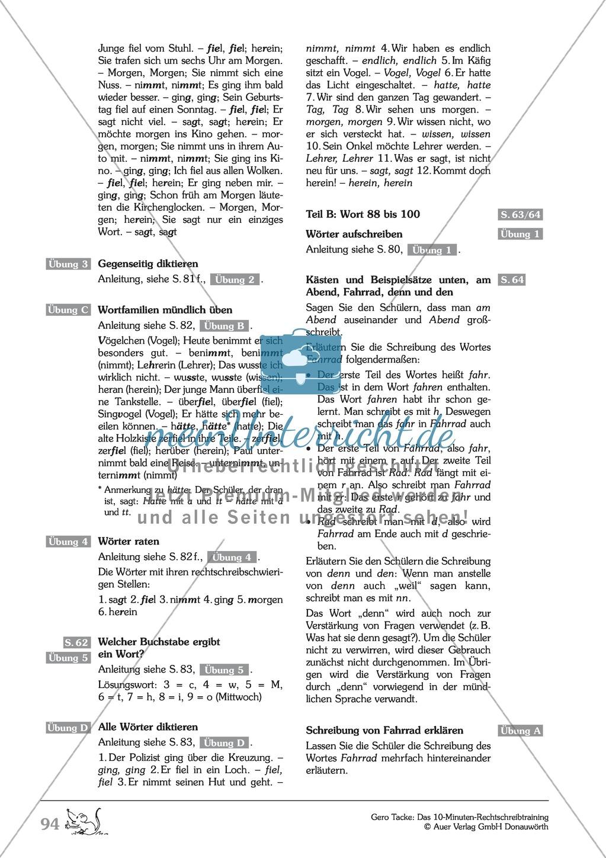 Einüben der 100 häufigsten Fehlerwörter - Wort 88-100: Arbeitsblätter + Erläuterung Preview 4