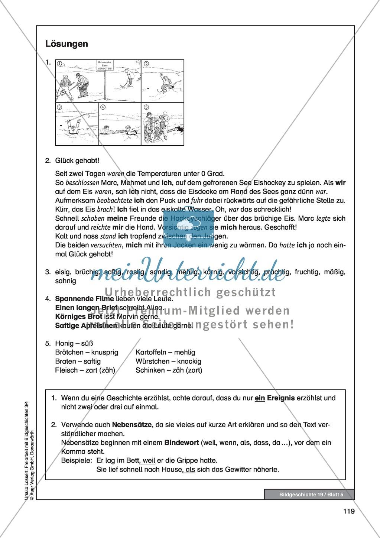"""bildergeschichte """"auf dem eis"""": bildmaterial + arbeitsblätter +"""