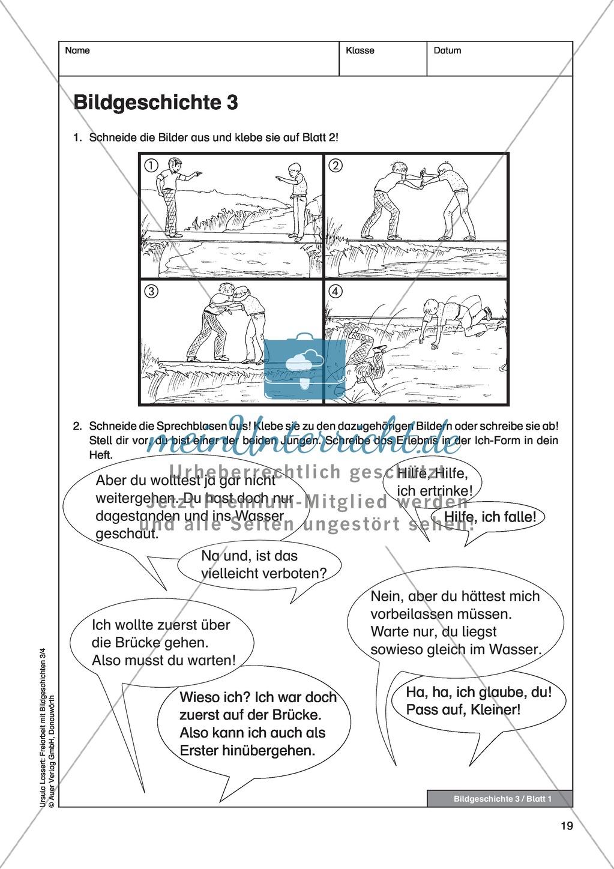 """bildergeschichte """"auf der brücke"""": bildmaterial + arbeitsblätter +"""
