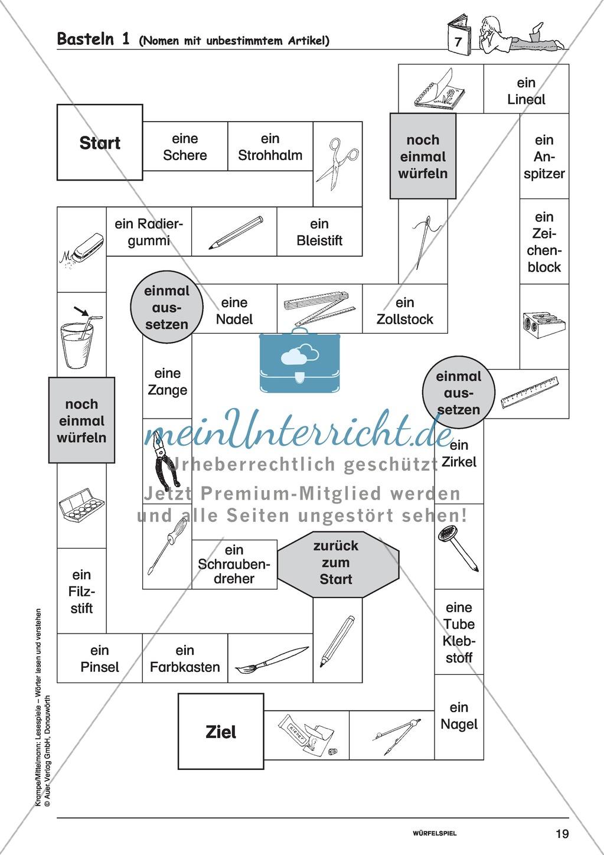 Einzelwörter mit Bild: Spielkarten + Lösung Preview 12