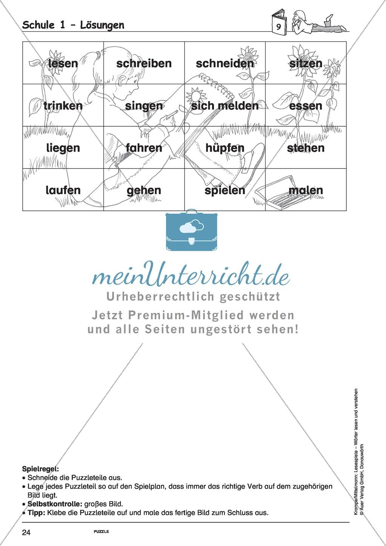 Einzelwörter mit Bild: Spielkarten + Lösung Preview 17