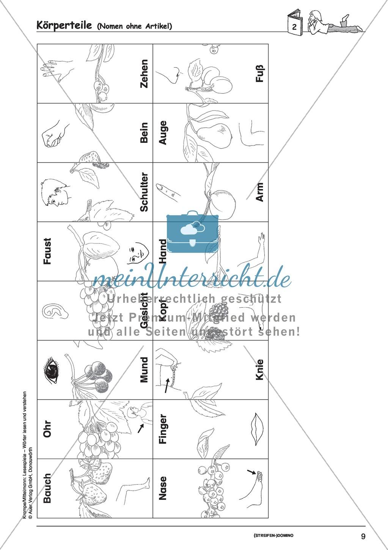 Einzelwörter mit Bild: Spielkarten + Lösung Preview 2
