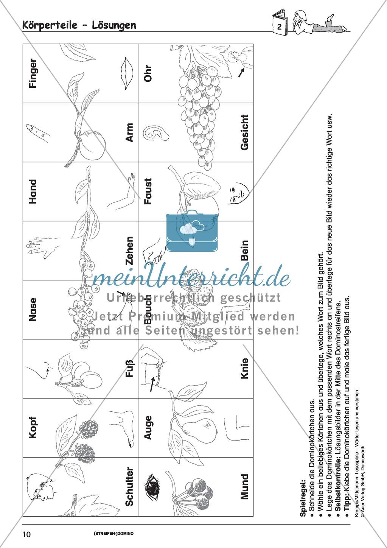 Einzelwörter mit Bild: Spielkarten + Lösung Preview 3
