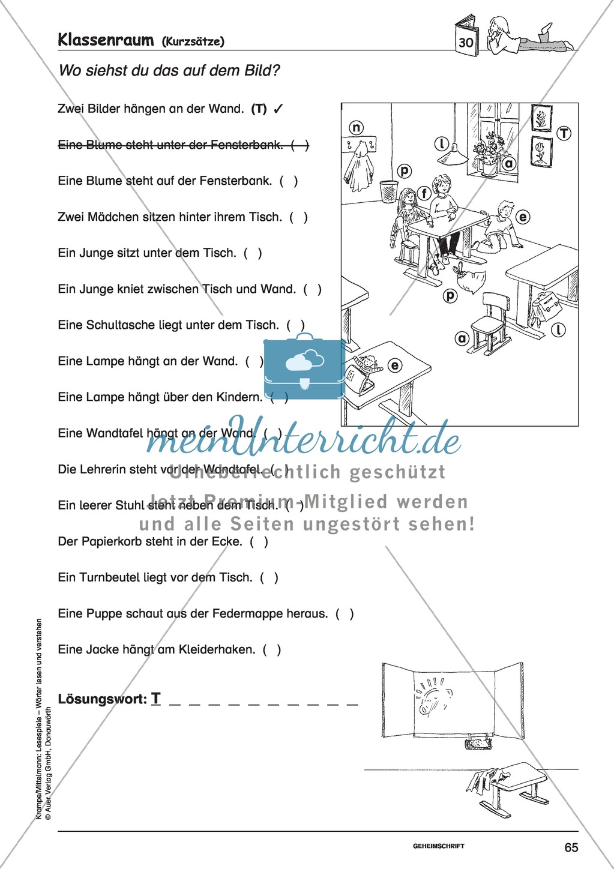Kurzsätze mit Bild: Spielkarten + Lösung Preview 4