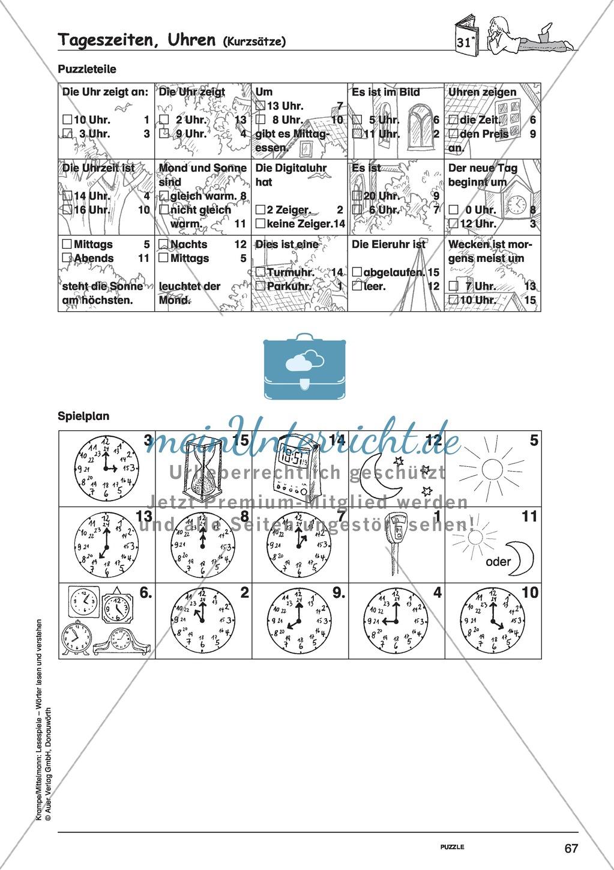 Kurzsätze mit Bild: Spielkarten + Lösung Preview 6