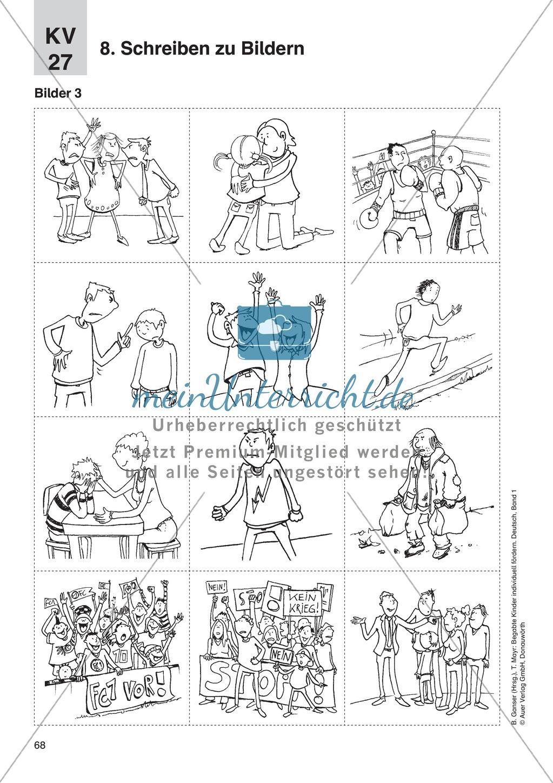 Texte verfassen/Kreatives Schreiben - Schreiben zu Bildern: Erläuterung + Übungen Preview 5