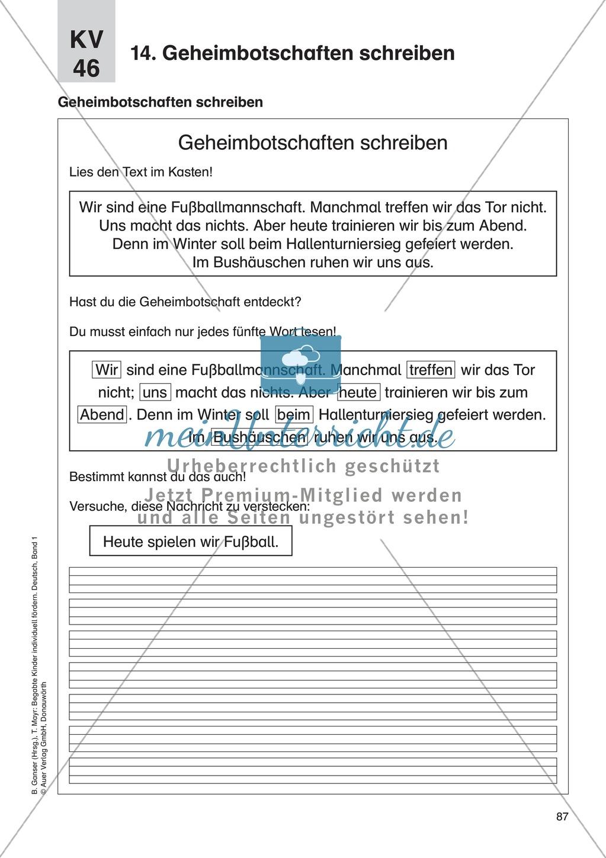 Texte verfassen/Kreatives Schreiben - Geheimbotschaften schreiben: Erläuterung + Übung Preview 2