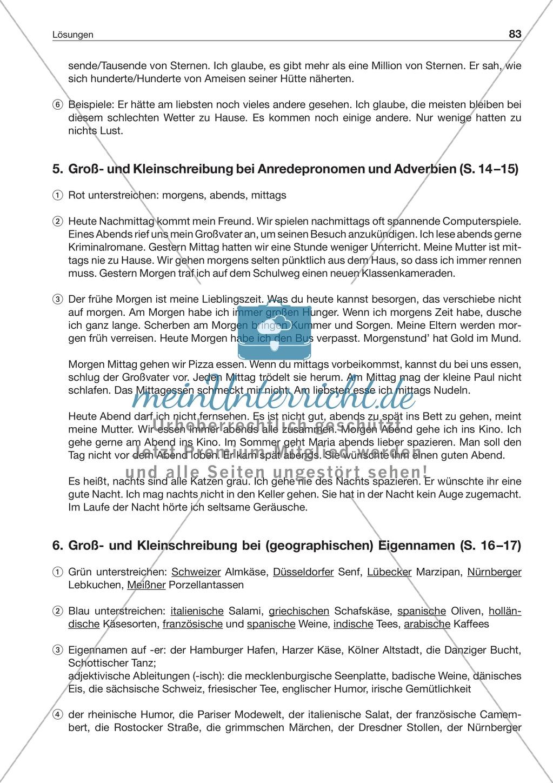 Groß- und Kleinschreibung bei Eigennamen: Arbeitsblatt + Lösung ...