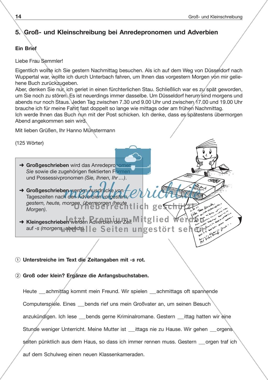 Groß- und Kleinschreibungbei Anredepronomen + Adverbien ...