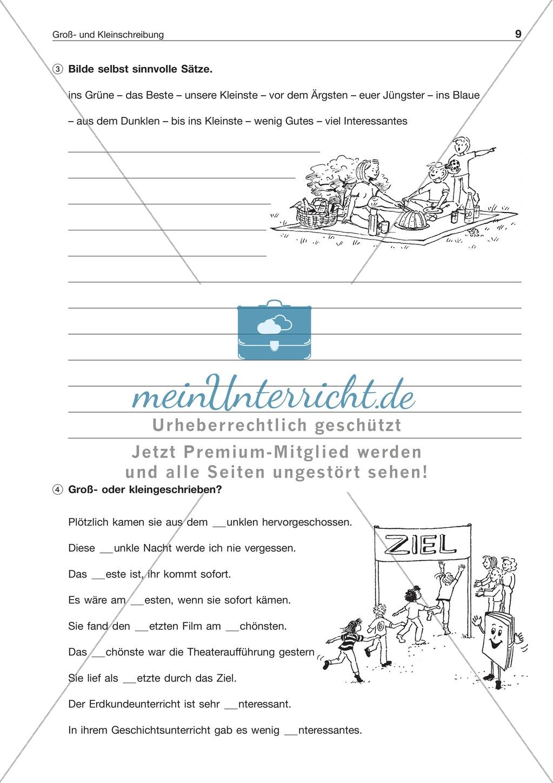 gro und kleinschreibung substantivierte adjektive zahlw rter arbeitsblatt l sung. Black Bedroom Furniture Sets. Home Design Ideas