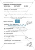 Getrennt- und Zusammenschreibung von Adjektiv/Verb-Verbindungen: Arbeitsblatt + Lösung Preview 2