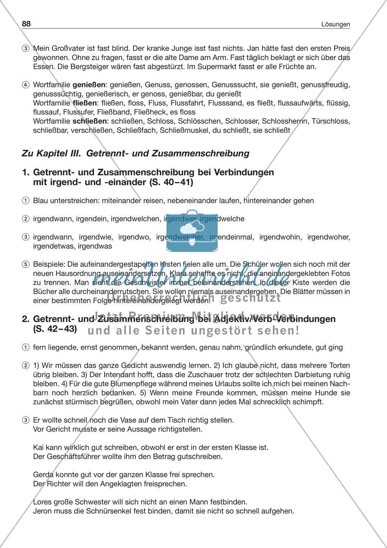 Getrennt- und Zusammenschreibung von Adjektiv/Verb-Verbindungen ...