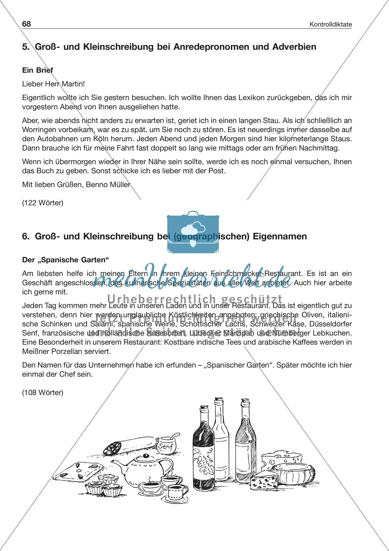 Groß- und Kleinschreibung: Kontrolldiktate Preview 2