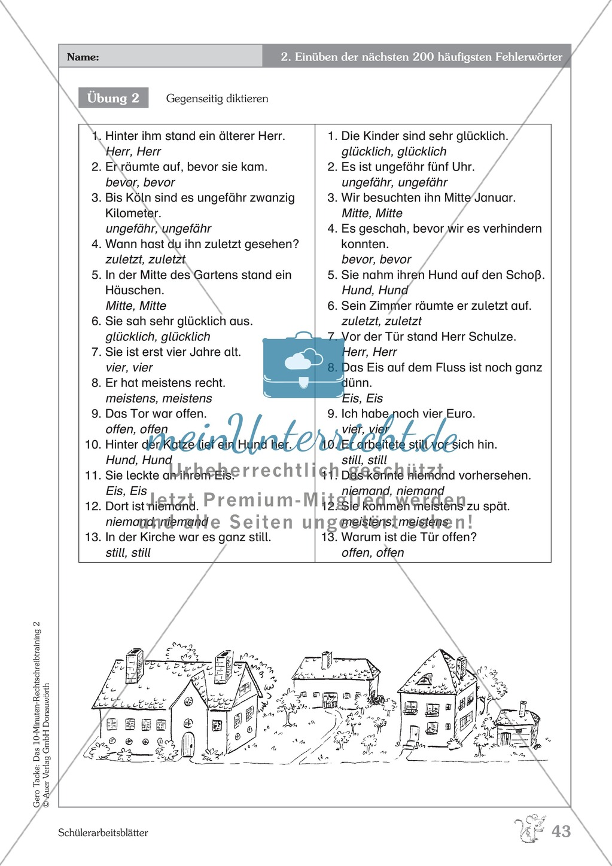 Einüben der 200 häufigsten Fehlerwörter - Wort 176-188: Arbeitsblätter + Erläuterung Preview 1