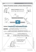 Groß- und Kleinschreibung - Verben werden zu Nomen: Übungen + Erläuterung Preview 1
