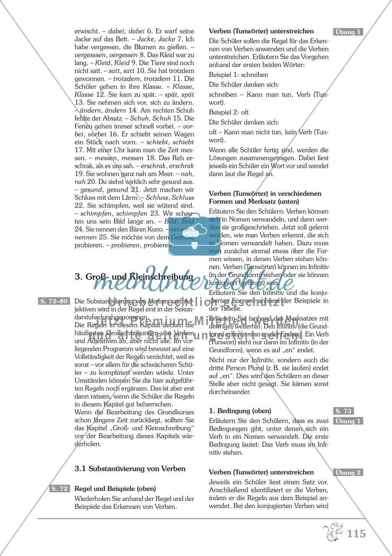 Groß- und Kleinschreibung - Verben werden zu Nomen: Übungen + ...