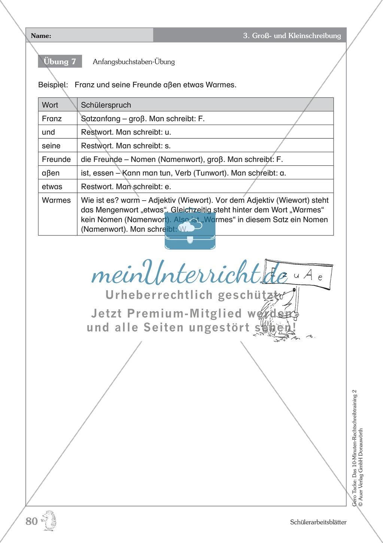Groß- und Kleinschreibung - Adjektive werden zu Nomen: Übungen + Erläuterung Preview 4