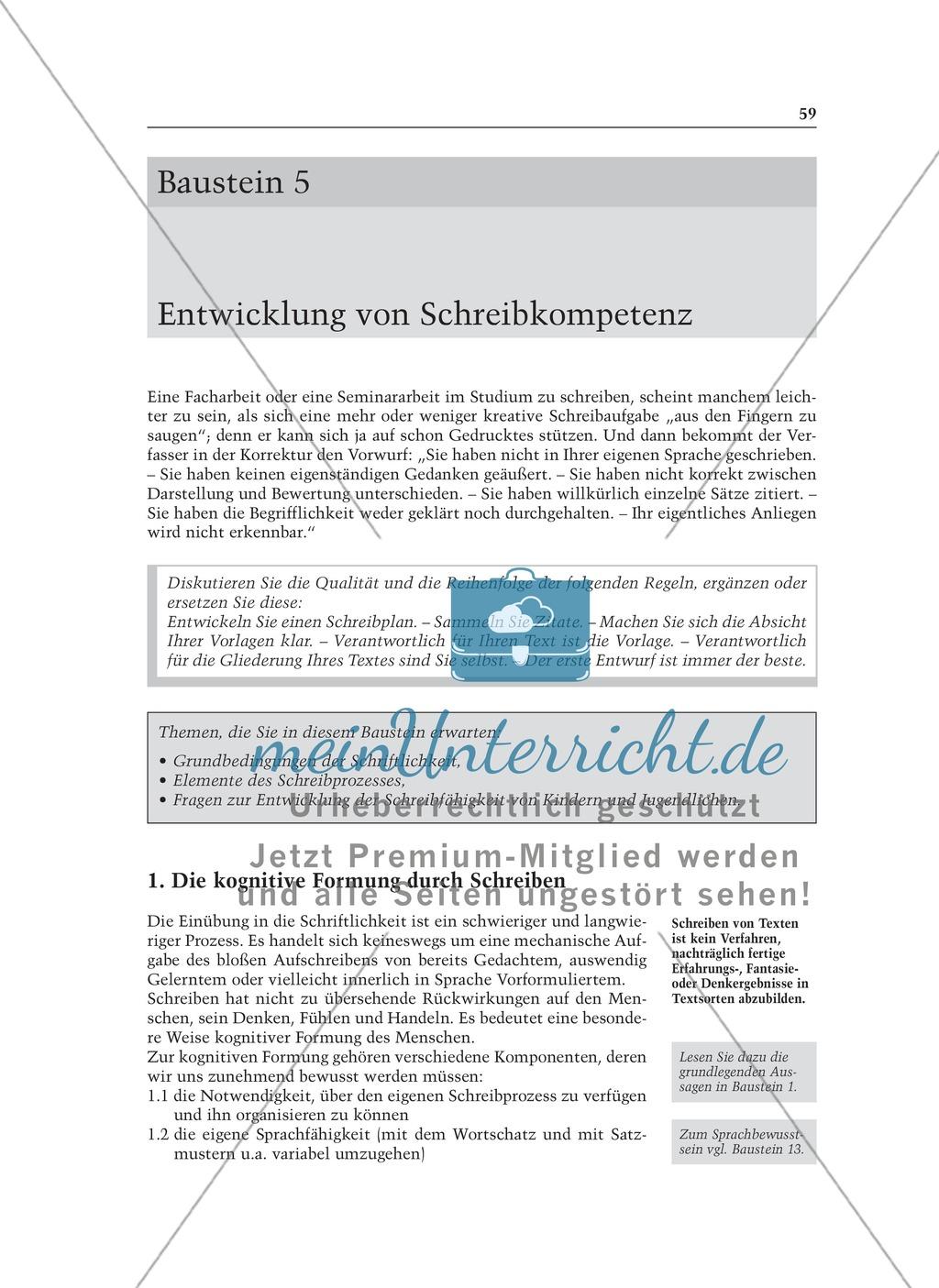 Entwicklung von Schreibkompetenz: Informationstext für Lehrer Preview 0