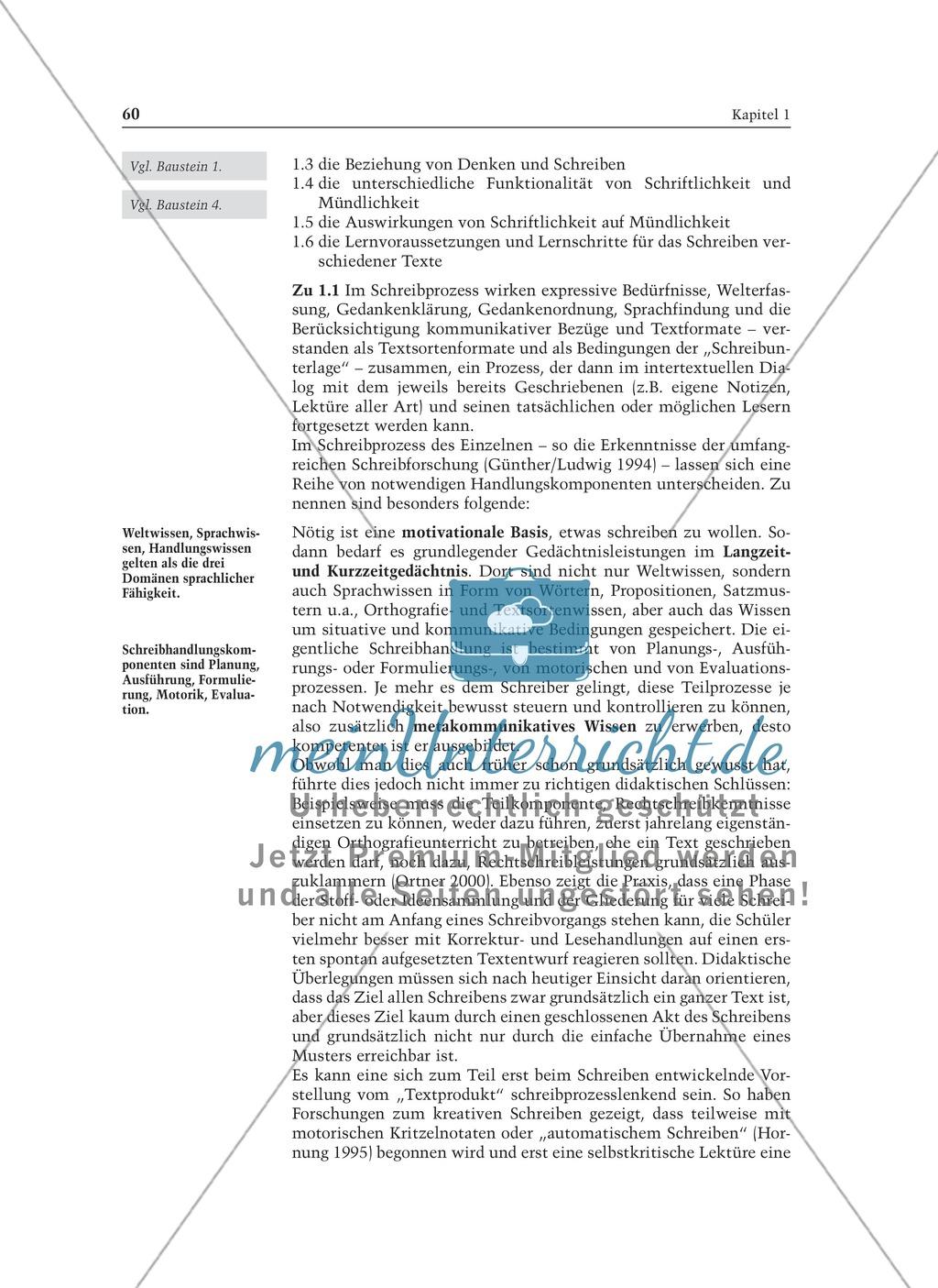 Entwicklung von Schreibkompetenz: Informationstext für Lehrer Preview 1