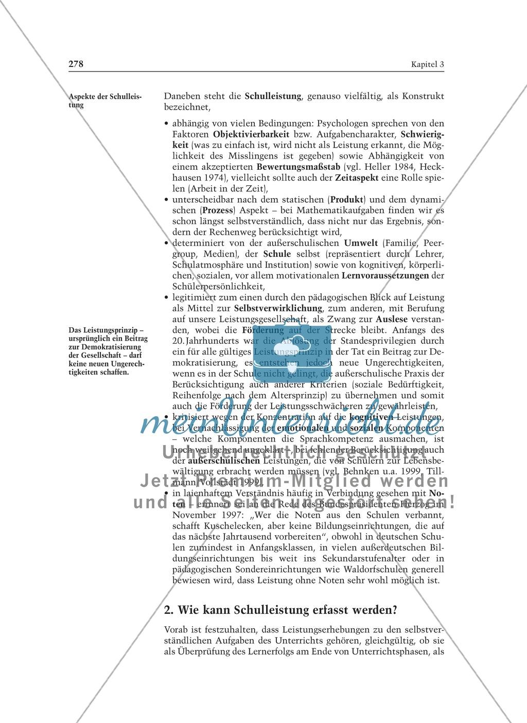 Lernergebnisse feststellen: Sinn und Grenzen von Evaluation und Leistungsbeurteilung: Informationstext für Lehrer Preview 1