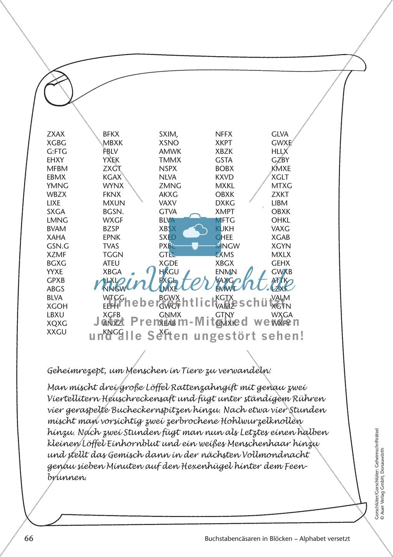 Geheimschrift in Blöcken Alphabet versetzt: Übungen Preview 5