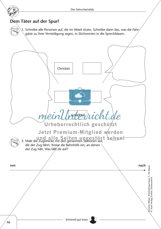 Der Fahrscheindieb: Text + Übung + Lösung Preview 3