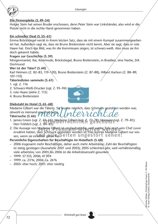 Diebstahl im Hotel: Text + Übung + Lösung Preview 6