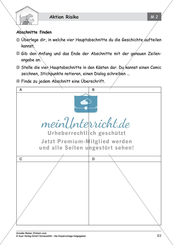 """Kurzgeschichte """"Aktion Risiko"""": Lesetext + Arbeitsblätter Preview 12"""
