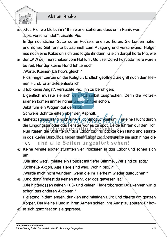 """Kurzgeschichte """"Aktion Risiko"""": Lesetext + Arbeitsblätter Preview 2"""