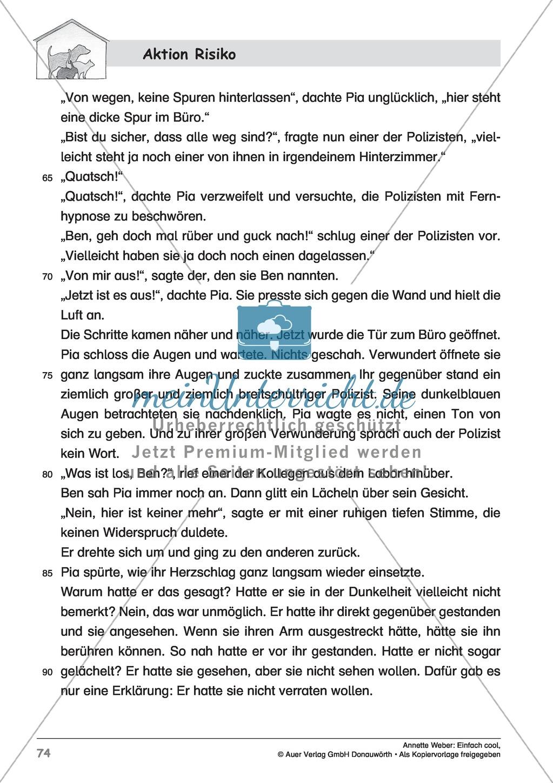 """Kurzgeschichte """"Aktion Risiko"""": Lesetext + Arbeitsblätter Preview 3"""