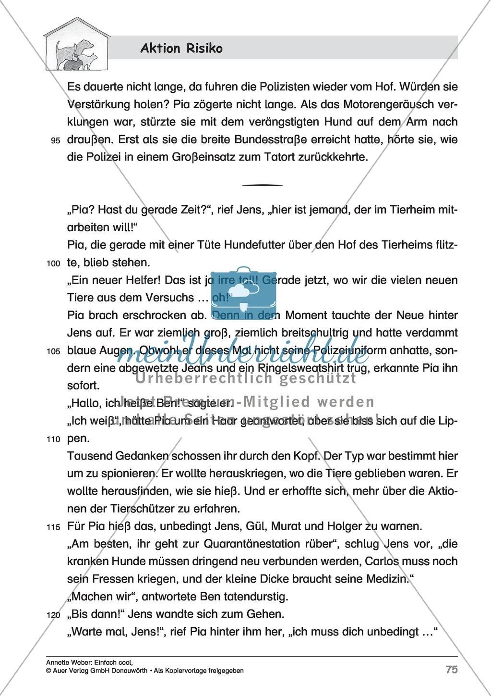 """Kurzgeschichte """"Aktion Risiko"""": Lesetext + Arbeitsblätter Preview 4"""