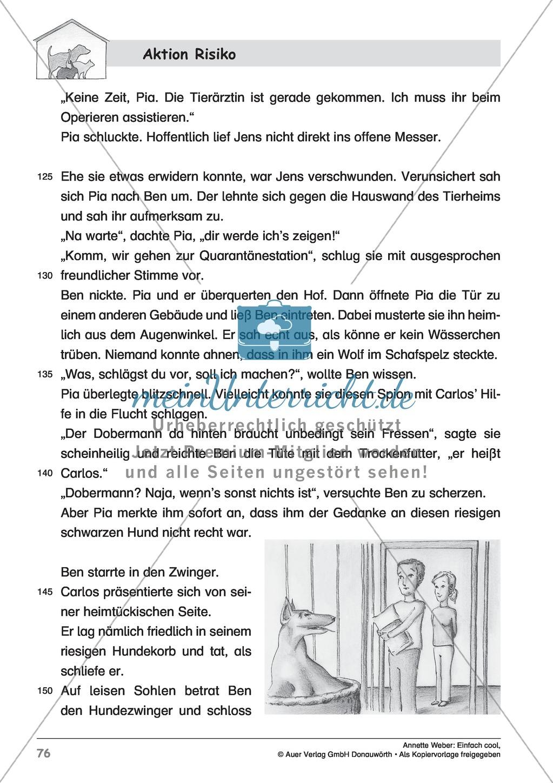 """Kurzgeschichte """"Aktion Risiko"""": Lesetext + Arbeitsblätter Preview 5"""