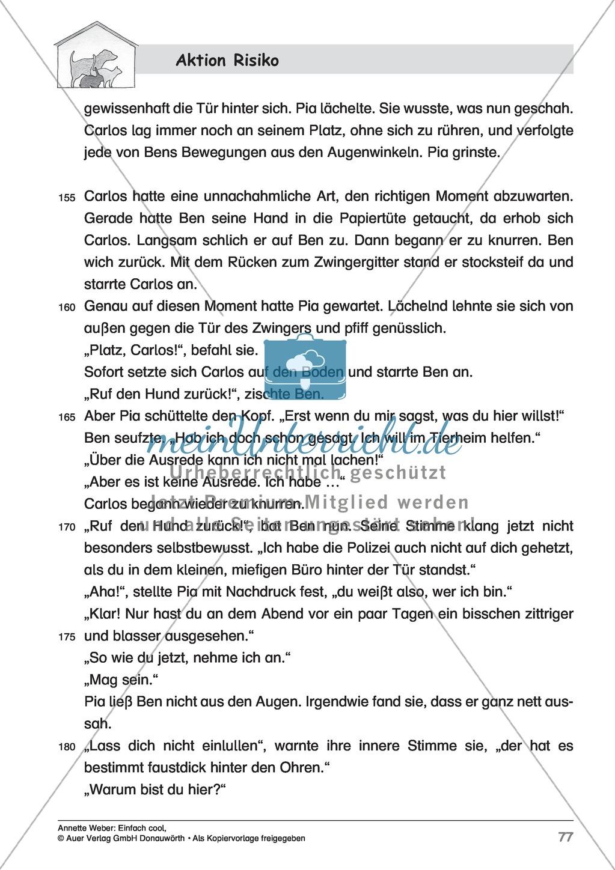 """Kurzgeschichte """"Aktion Risiko"""": Lesetext + Arbeitsblätter Preview 6"""