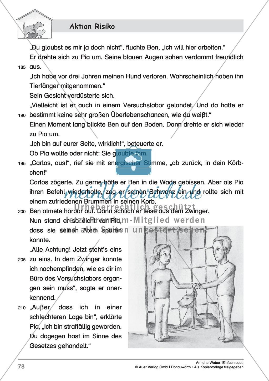 """Kurzgeschichte """"Aktion Risiko"""": Lesetext + Arbeitsblätter Preview 7"""