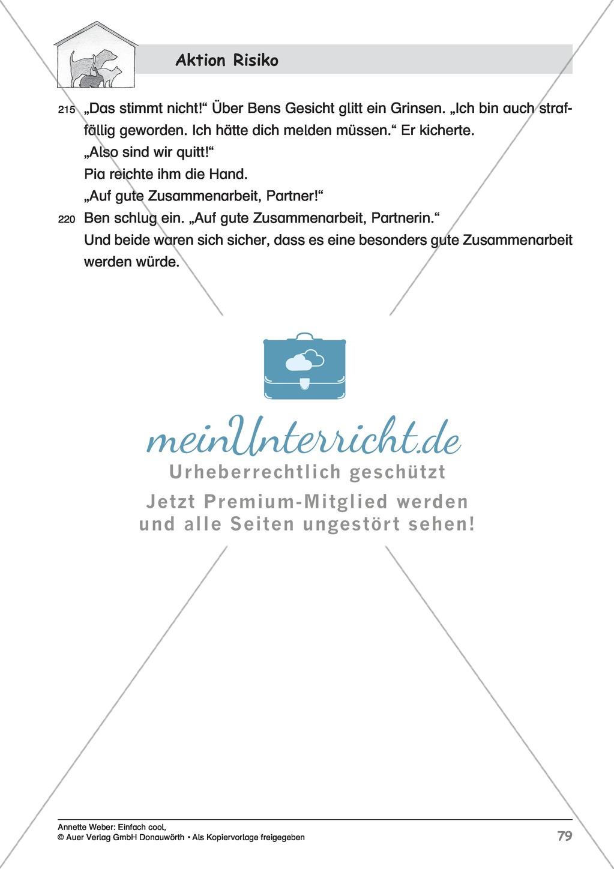 """Kurzgeschichte """"Aktion Risiko"""": Lesetext + Arbeitsblätter Preview 8"""