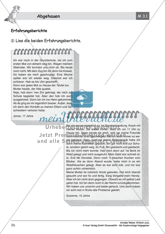 """Kurzgeschichte """"Abgehauen"""": Lesetext + Arbeitsblätter Preview 10"""