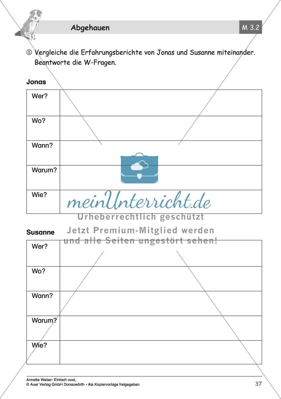 """Kurzgeschichte """"Abgehauen"""": Lesetext + Arbeitsblätter Preview 11"""