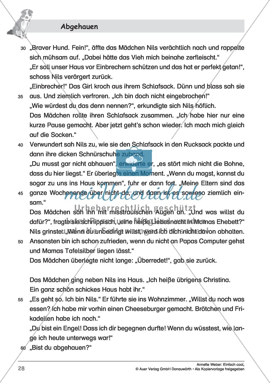 """Kurzgeschichte """"Abgehauen"""": Lesetext + Arbeitsblätter Preview 2"""