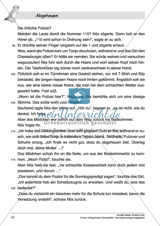 """Kurzgeschichte """"Abgehauen"""": Lesetext + Arbeitsblätter Preview 4"""