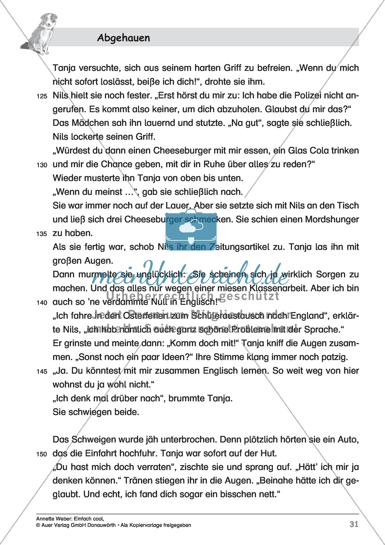 """Kurzgeschichte """"Abgehauen"""": Lesetext + Arbeitsblätter Preview 5"""