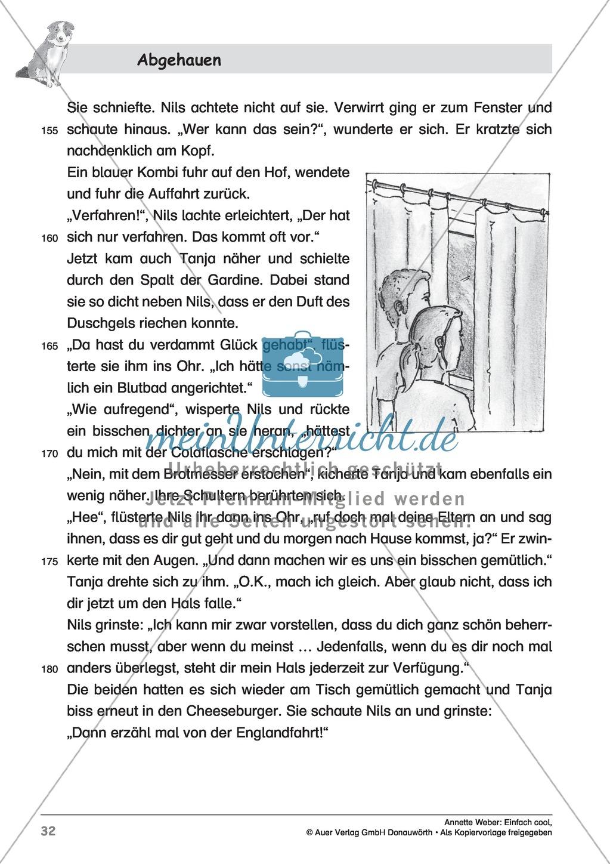 """Kurzgeschichte """"Abgehauen"""": Lesetext + Arbeitsblätter Preview 6"""