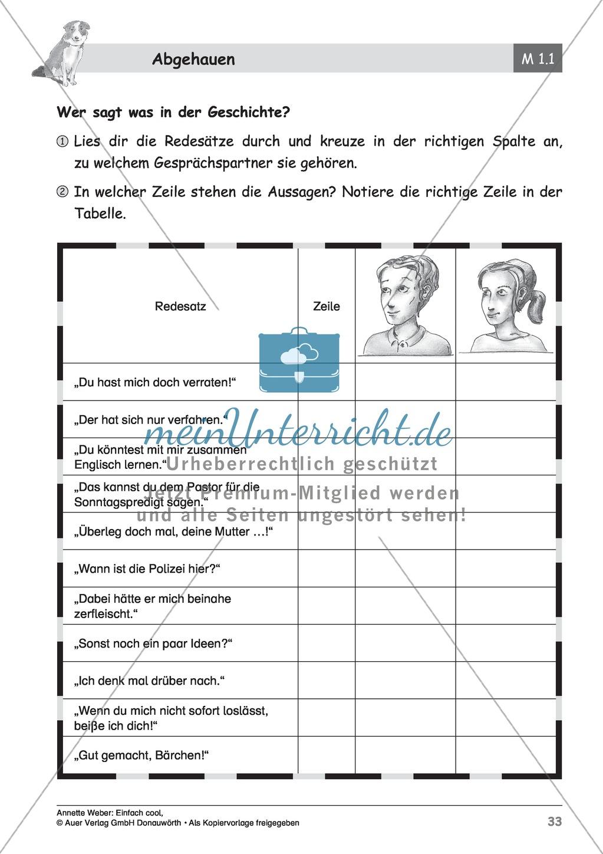 """Kurzgeschichte """"Abgehauen"""": Lesetext + Arbeitsblätter Preview 7"""