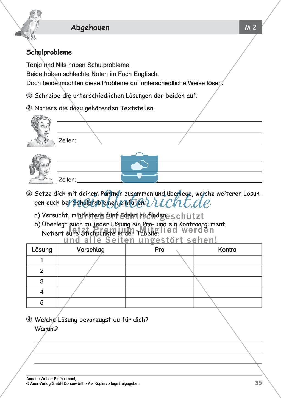 """Kurzgeschichte """"Abgehauen"""": Lesetext + Arbeitsblätter Preview 9"""