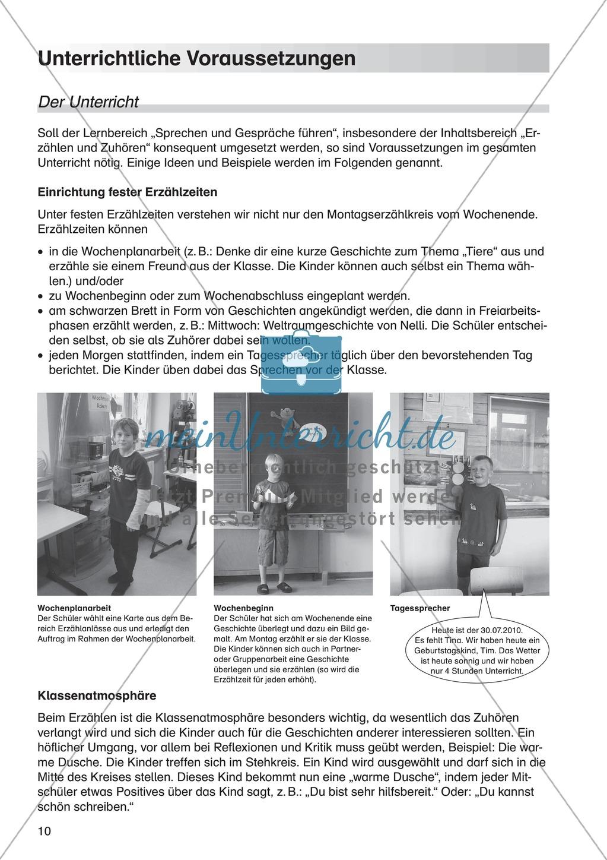 Unterrichtliche Voraussetzungen für die Umsetzung des Bereichs