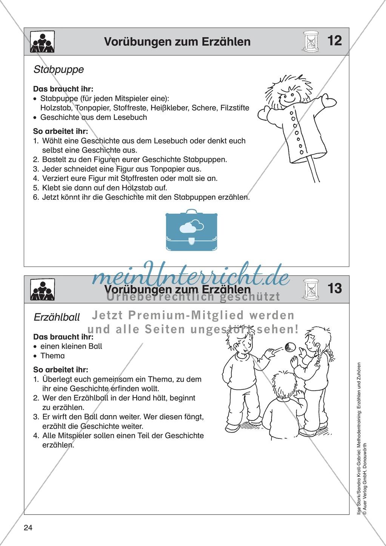 Vorübungen zum Erzählen: Stabpuppe + Erzählball Preview 0