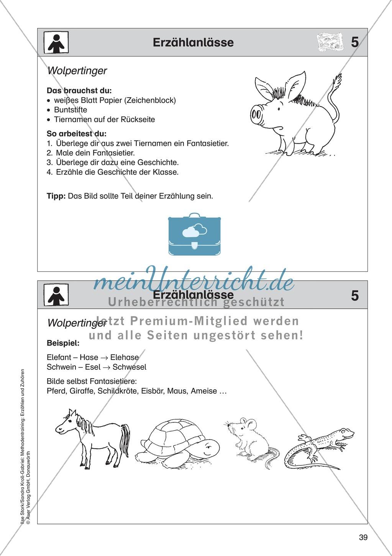 Erzählanlässe: Wolpertinger - Ein Fantasietier mitsamt Geschichte ausdenken Preview 1
