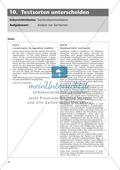 Klausur: Textsorten unterscheiden - Sachtextanalyse + Lösung Preview 1
