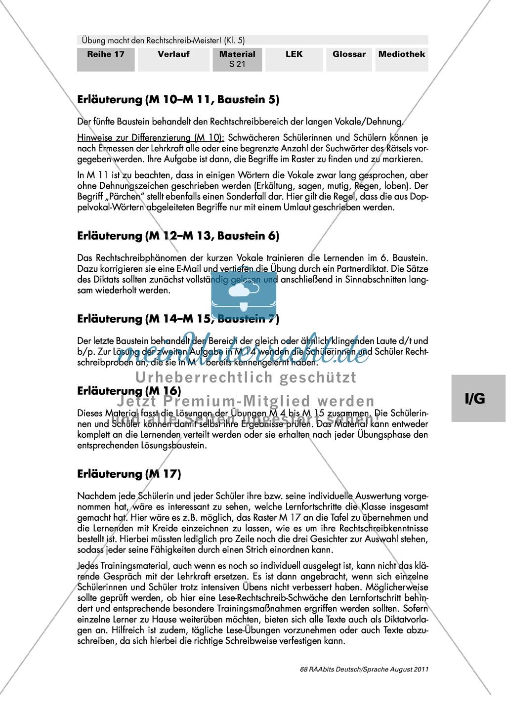 Rechtschreibung: kurze Vokale/Schärfung Preview 2