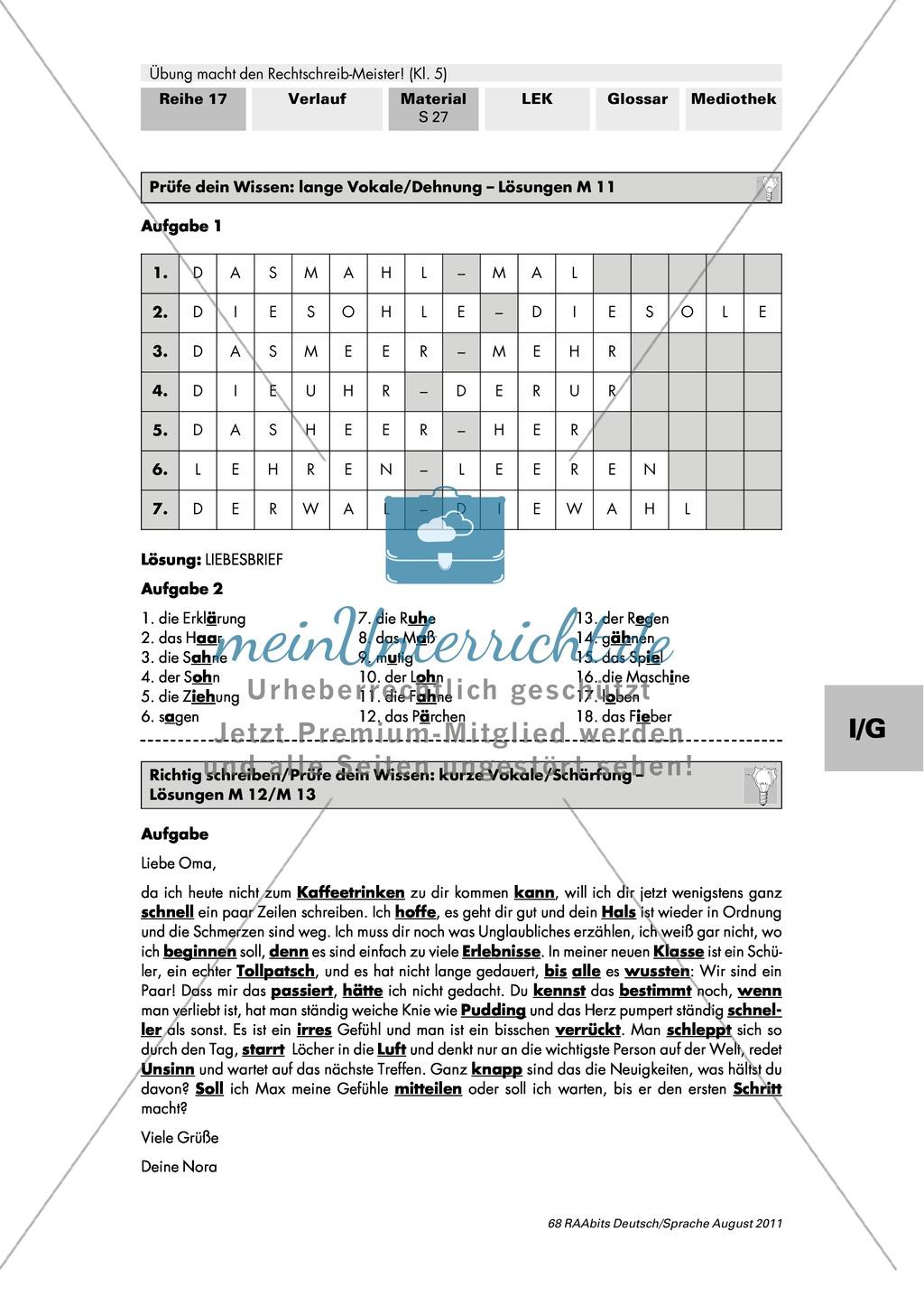 Rechtschreibung: kurze Vokale/Schärfung Preview 3